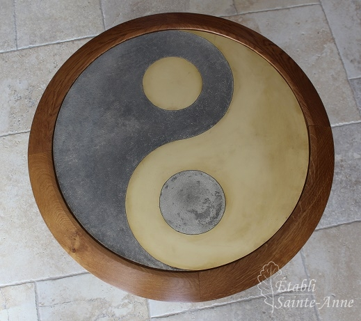 "Plateau dinanderie ""Ying/Yang"